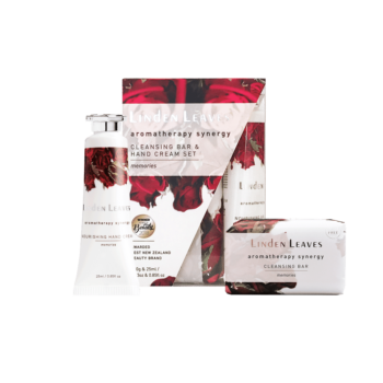 Linden Leaves Aromatherapy Synergy Memories Hand Cream and Cleansing Bar Set