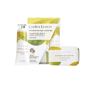 Linden Leaves Aromatherapy Synergy Pick Me Up Hand Cream and Cleansing Bar Set