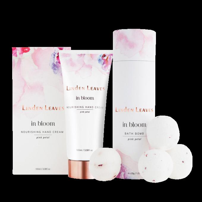 Pink Petal Hand Cream and Bath Bombs