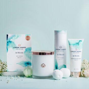 Aqua Lily Bath Bombs, Soy Candle & Hand Cream